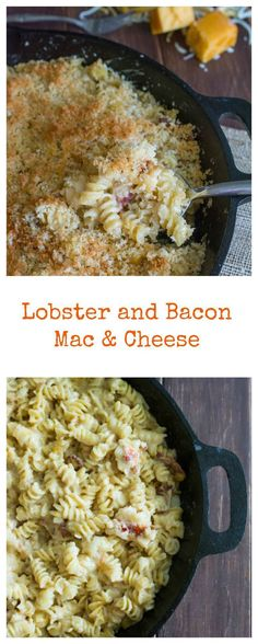 Lobster and Bacon Mac & Cheese - wokandskillet.com