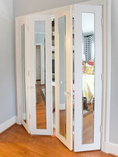Mirrors with command steps stops on closet doors!