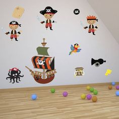 Pirates Boys Wall Stickers