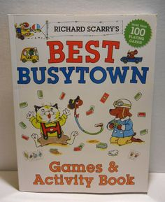 Best Busytown Games & Activity Book by Richard Scarry ~ NEW! (2013)