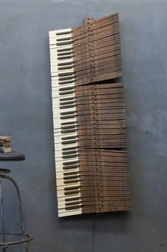 When your piano dies, it can live again as wall art. You can actually purchase these keys for $435.