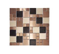 Information about Metallic Random Copper Mix Mosaic Tile Kitchen Mosaic, Kitchen Wall Tiles, Copper Kitchen, Mosaic Tiles, Mosaic Bathroom, Glass Tiles, Tiling, Bathroom Wall, Copper Tile Backsplash