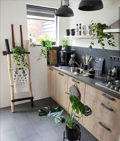 House Interior Decor - New ideas Small Apartment Kitchen, Home Decor Kitchen, Kitchen Interior, Home Kitchens, Kitchen Ideas, Sistema Drywall, Sweet Home, Small Kitchen Organization, Concrete Kitchen