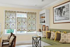 Flat Roman #Shades in 14442 Passport Floral/ Wheat with Top Down+Bottom Up