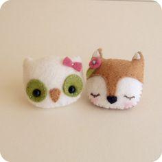 Fox und Owl Brosche Pdf Muster  Instant Download von Gingermelon