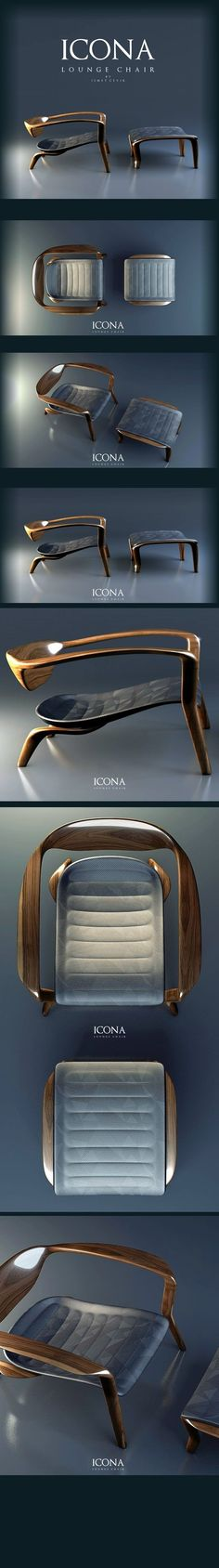 Icona Lounge: une #chaise #design par Ismet Cevik