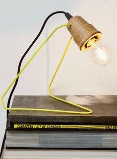 Metal and oak table #lamp WATTMAN by Universo Positivo | #design Lara & Jan @UniversoPositiv