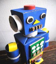 karton-kutudan-robot-yuzu-yapilisi