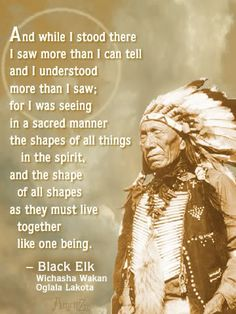 "From ""Black Elk Speaks,"" such a powerful book"