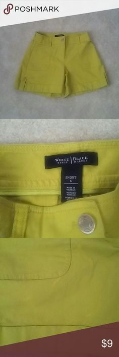 White House Black Market Shorts Size 6 Cute New Shorts however have some accidental bleach marks on front and side. Not too noticeable. I have mark down the price for this shorts as is. Please check out my closet for other great finds. Thanks for stopping by. White House Black Market Shorts Skorts