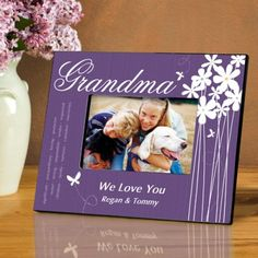 Details: Our perky purple personalized Bloomin' Butterfly picture frame offers a whimsical loo