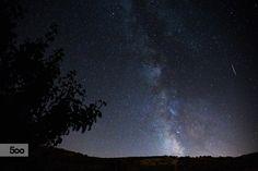 Tree, Milky Way and Plane by Javier Cazorla Arrabal on 500px