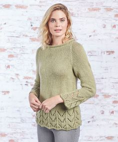 Fluted Lace Pullover