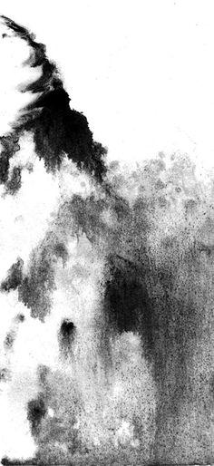 La Montagne / recherche monotype