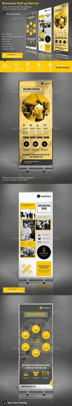 Roll-up Business Template #design Download: http://graphicriver.net/item/rollup-business-vol-3/10767531?ref=ksioks