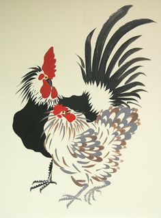 """""""Good Luck"""" Roosters—Original Paintings: Make the sun shine every morning! Rooster Painting, Rooster Art, Chicken Painting, Chicken Art, Paintings For Sale, Original Paintings, Chicken Quilt, Impressionist Artists, Chickens And Roosters"""