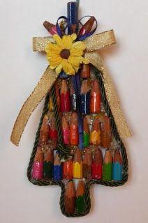 penso+invento+creo: Decorazione Albero di Natale con Matite- Xmas Tree