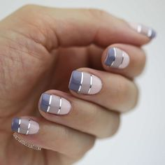 Squoval Nails: 10 manicure ideas for nails at the top Un nail art en dégradé Pl Love Nails, How To Do Nails, Fun Nails, Pretty Nail Designs, Nail Art Designs, Nails Design, Pedicure Designs, Classy Nail Art, Nagellack Design