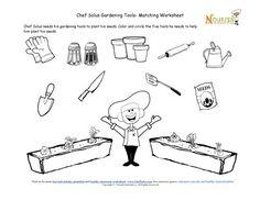 Crossword puzzle templates for preschool through grade 3 for Gardening tools crossword