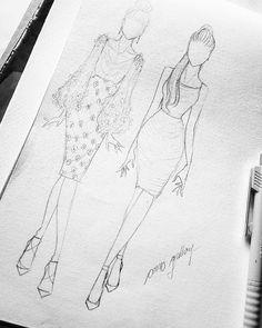 Fashion Design Books, Fashion Design Sketchbook, Fashion Design Drawings, Fashion Sketches, Fashion Art, Fashion Figure Drawing, Fashion Model Drawing, Fashion Drawing Dresses, Fashion Illustration Dresses