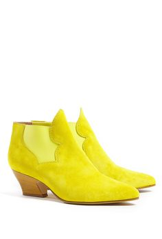 Alma Mid Heel Pull On Leather Ankle Boot by Acne