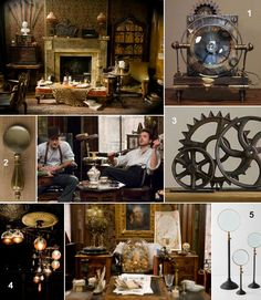 love the steampunk decor in the sherlock holmes movie
