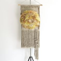 handwoven wall hanging tapestry weaving with hand dyed fibers | no. 090415 | halcyon