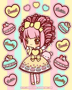 Stickers: Sweet Treat Macarons by MoogleGurl.deviantart.com on @DeviantArt