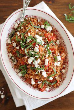 One-Pot Farro with Tomatoes and Feta | girlversusdough.com by girlversusdough, via Flickr