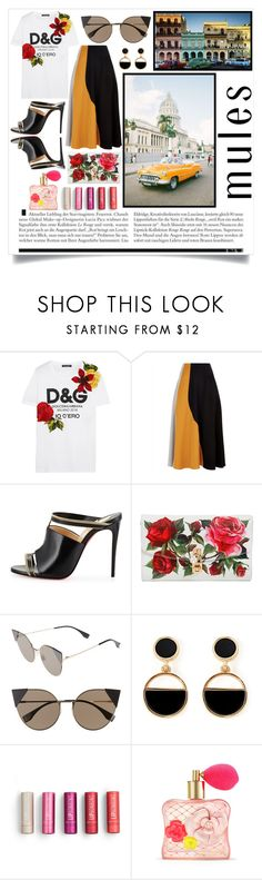 """C U B A"" by color-dli on Polyvore featuring мода, Dolce&Gabbana, Jaeger, Christian Louboutin, Fendi, Warehouse и Victoria's Secret"