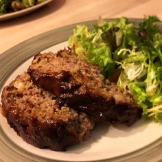 Glazed Meatloaf I Recipe - Ground beef meatloaf is made with egg, bread, and onions, then topped with a sweet and sour glaze, and baked. Beef Meatloaf Recipes, Classic Meatloaf Recipe, Best Meatloaf, Beef Recipes, Cooking Recipes, Hamburger Recipes, Hamburger Dishes, Salad Recipes, Cooking