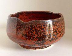 Iron glaze on porcelain tea bowl. Annie Jennings.