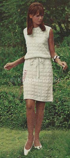 Зеленое платье | Вязание для женщин | Вязание спицами и крючком. Схемы вязания.