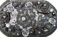 Авторские сумочки с атласными розами от Светланы Трегуб. Обсуждение на LiveInternet - Российский Сервис Онлайн-Дневников