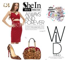 """""""leopard print love"""" by agnesmakoni ❤ liked on Polyvore featuring Christian Louboutin, Christian Dior and Ross-Simons"""
