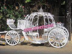 NEW WEDDING WHITE CINDERALA CARRIAGE by dstexports, via Flickr