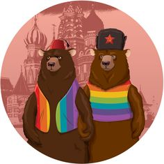 "by Terry Wong for the Russian ""Art Speaks Louder Than Words"" LGBT rights…"