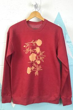 5a4539b46a63d Alison Rose · Products · Red Flowers Crewneck Sweatshirt