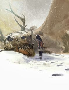 The Little Girl and the Dragon Concept Art by John Park  // *Cool concept!