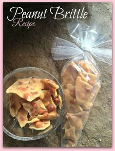 Microwave Peanut Brittle Recipe! This is perfect for Valentine's Day Gifts!