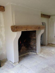 tiny homes interior Stucco Fireplace, Cottage Fireplace, Family Room Fireplace, Inglenook Fireplace, Rustic Fireplaces, Farmhouse Fireplace, Diy Fireplace, Fireplace Design, Space Interiors