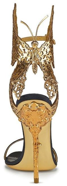Butterfly sandals in leather and metal, Sergio Rossi | LBV ♥✤ | KeepSmiling | BeStayElegant