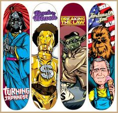 Sweet Star Wars Parody Skateboard Decks