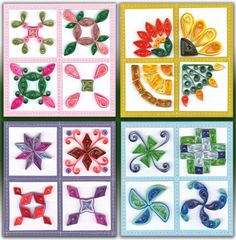 Quilt Block Sampler Quilling Kit  This kit is filled with colorful designs inspired by handmade quilts and sampler blocks.