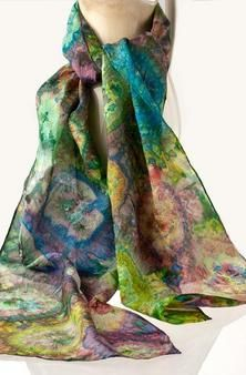 hand painted silk scarves by Awad