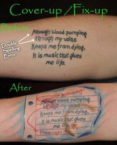 d19d86b05 To have these funny tattoos you have to have a good sense of humor! Why not  make your friends laugh, your mom laugh and even your tattoo artist?