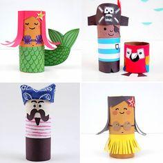 25 personatges fets amb tubs de paper de vàter – tot nens