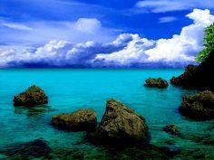 Cobalt waters of Boracay Islands, Philippines