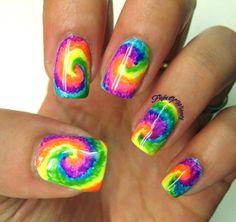 Tie Dye via #flightofwhimsy #colorfulnails #swirls #nailart #polish - bellashoot.com