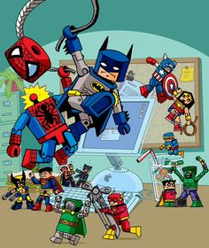 Lego Marvel Vs DC Dc Comics Spiderman